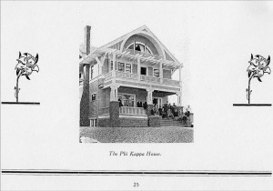 Phi Kappa chapter house 1911
